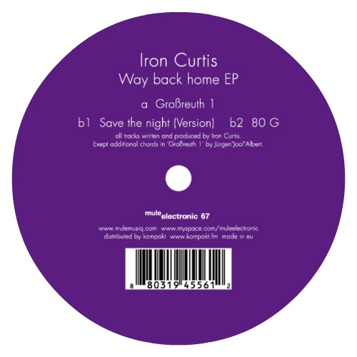Iron Curtis – 'Way Back Home EP' (2010)