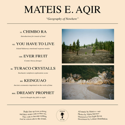 Mateis E. Aqir – 'Geography Of Nowhere' (2018)